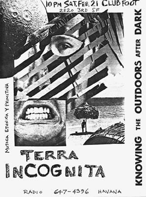 Max's poster for first Terra Incognita show